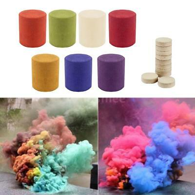 7 Colors Smoke Cake Smoke Effect Show Round Bomb Photography Aid Toy Divine P9V2