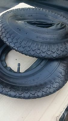 1x Wheelbarrow Tyre&Tube 4.80/4.00x8 (4ply) for Wheelbarrows/Wheelchairs