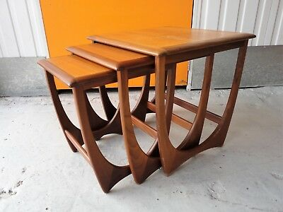 Curved vintage retro 1960s 70s teak g plan astro fresco nest of curved vintage retro 1960s 70s teak g plan astro fresco nest of tables watchthetrailerfo