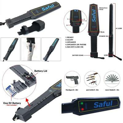 Portable Hand Held Metal Detector Wand Security Scanner With Adjustable Ratio