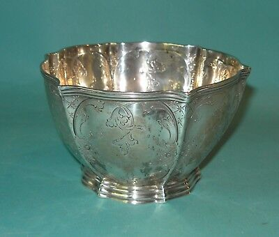 William Wm Gale & Son New York Bowl Sterling Silver Flora Mid 19th Century 1850