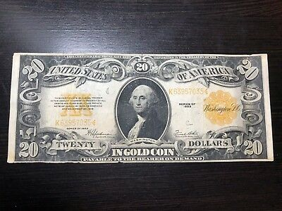 Series of 1922 $20 Large Size Gold Certificate
