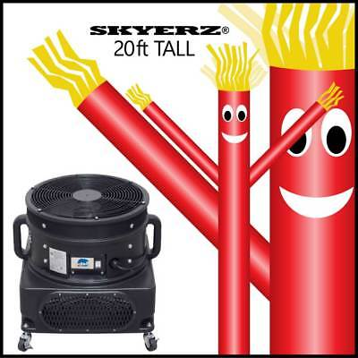 Skyerz 20' ft Red Inflatable Advertising Sky Air Dancer Tube Man with Blower