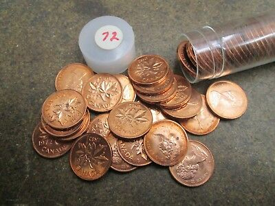 Roll of 1972 Canada Small Cents UNC Condition No Reserve
