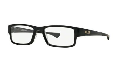 NEW ORIGINAL OAKLEY AIRDROP OX8046-0255 PLASTIC EYEGLASSES BLACK INK 143mm 55-18