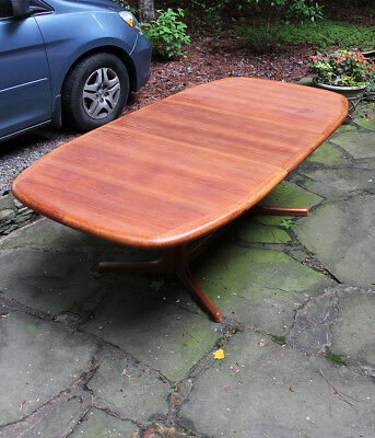LARGE DANISH TEAK Mid Century Modern Dining Table By Dyrlund W - Large mid century modern dining table