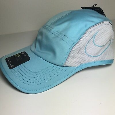 NWT Nike court Aerobill Featherlight Adjustable Tennis Running Hat Cap Blue ad0b7a885850