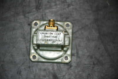American 2000-5001 WR90 to SMA (F) Adapter
