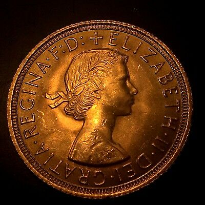 Great Britain 1963 Gold Sovereign Elizabeth Brilliant Uncirculated Harder Date