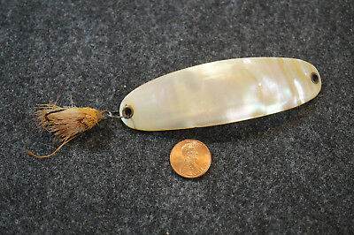 Antique Large Mother of Pearl Fishing Lure Spoon