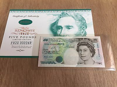 Year 2000 Special Limited Edition Bank of England Five Pounds Gem-Uncirculated