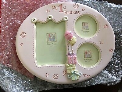 My 1st Birthday Photo Frame - Pink