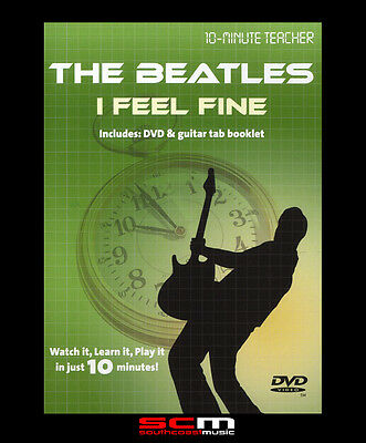 10-Minute Teacher Learn To Play The Beatles I Feel Fine Guitar Dvd Tutorial New!