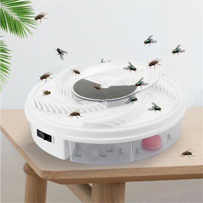 USB Electric Fly Trap Artifact with Trapping Food Automatic Flycatcher JO