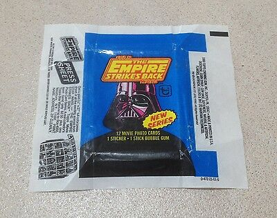 1980 Topps The Empire Strikes Back Series 2 - Wax Pack Wrapper (Press Sheet)