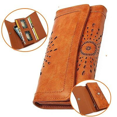 New Womens Lady Leather Wallet Purse Credit Card Clutch Holder Long Wallets
