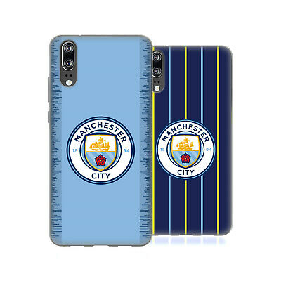 Manchester City Man City Fc 2018/19 Badge Kit Soft Gel Case For Huawei Phones