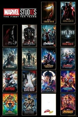 Marvel Studios - The First Ten Years Collage POSTER 61x91cm NEW Iron Man Thor