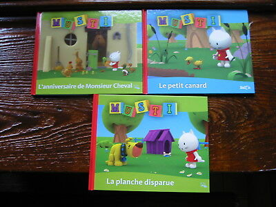 "Collection BALLON - 3 livres "" MUSTI"" à partir de 2 ans - Impeccables"