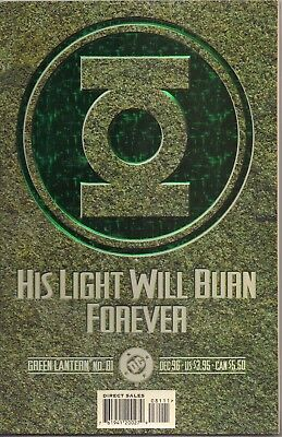 Green Lantern 81 Green Foil Cover Funeral Of Hal Jordon 1996 Comic