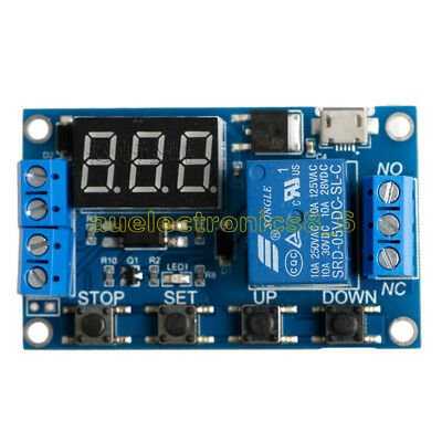 5V Micro USB LED Automation Delay Timer Control Switch Relay Module Display AU
