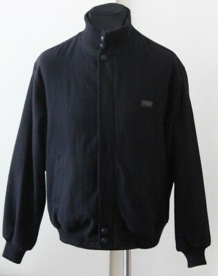 Paul and shark Yachting Mens vintage black wool jacket size M Medium