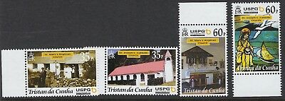 TRISTAN DA CUNHA: 2001 Anniversary of Arrival of Missionary set  SG731-4 MNH