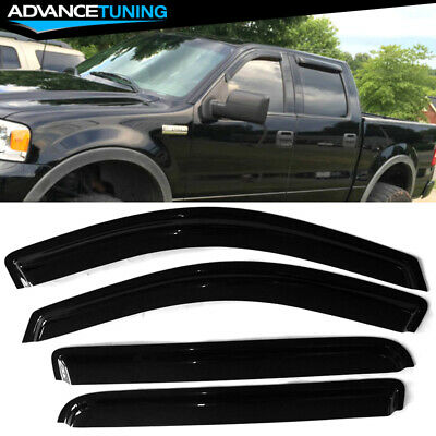 F150 Supercrew Cab >> Fits 04 08 Ford F150 Supercrew Cab Acrylic Window Visors 4pc