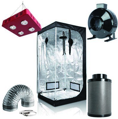 "800W LED Grow Light +36''x36''x72'' Grow Tent+6"" Inline Fan Filter Ducting Combo"