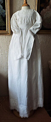 Vintage Baby  Christening Gown/tie Waist/embroidery