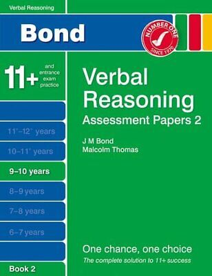 Bond Assessment Papers Verbal Reasoning 9-10 yrs Book 2 by Thomas, Malcolm Book