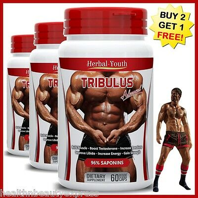 Tribulus Terrestris Capsules Extract 96% Saponins Muscle Sexual Libido Erection