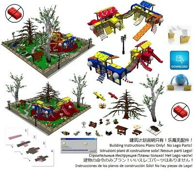 Lego Park Playground Instructions Modular Custom Building Design City Town