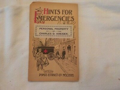 Hints For Emergencies Advertising Pond's Extract's  New York And London
