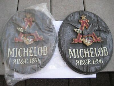 (2) Vintage Michelob Beer Since 1896 3D  Flying Eagle Plastic Signs in original
