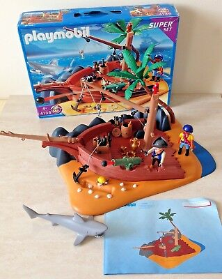 Playmobil Super Set 4136 Boxed Ship Wreck Pirate Island With