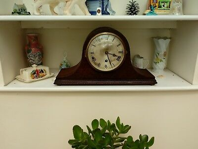 Napolean Hat Style Westminster Chime Mantle Clock