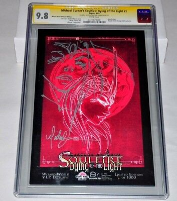 Michael Turner's Soulfire Dying Of The Light CGC 9.8 Variant Large SKETCH Signed