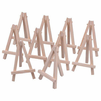 10pcs Mini Wooden Stand Easel Triangle Table Holder Artist Name Card Display