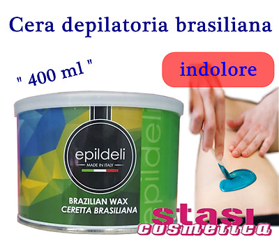 Cera ceretta depilatoria brasiliana vaso 400 ml indolore senza strisce