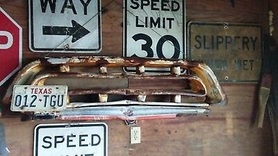 Vintage OEM 1957 CHEVY PICK UP TRUCK GRILLE  MAN CAVE WALL HANGER RAT ROD PATINA