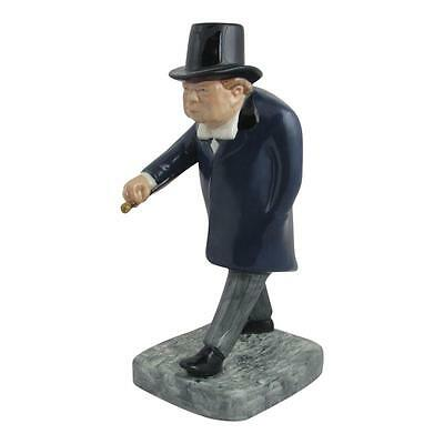 Winston Churchill Man in a Hurry Figure Bairstow Pottery No 1/100 UK MADE