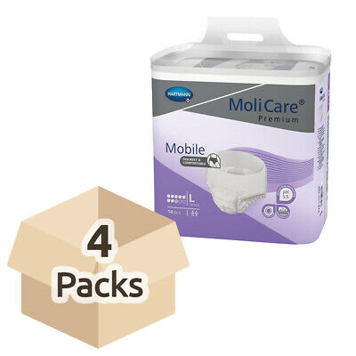 MoliCare Premium Mobile 8 - Large - Case - 4 Packs of 14 (Incontinence Pants)