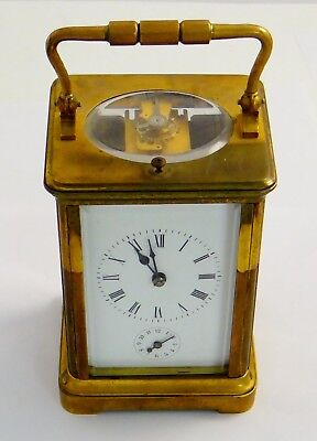 Tiffany and Co Carriage Clock, Mid-Size With Alarm, Signed in 3 Places - rf33658
