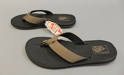8a1cceb4b5 VANS BROWN SANDALS La Costa Shitake Rasta Multiple Sizes Flip Flops ...