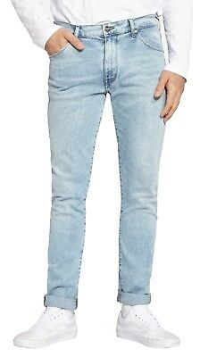 b3898462 Wrangler Larston Slim Modern Skinny Tapered Stretch Jeans Light Grade Denim