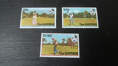 Gambia 1975 Sg 346-348 11Th Anniv Of Independence Mnh