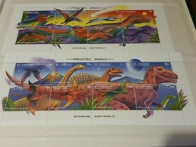 St.vincent And The Grenadines  Prehistoric Animals.sheets Mnh