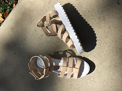 Nude White Sole Sandals Strappy Fashion New Hot Cut Out Open Toe Sandal 5 7