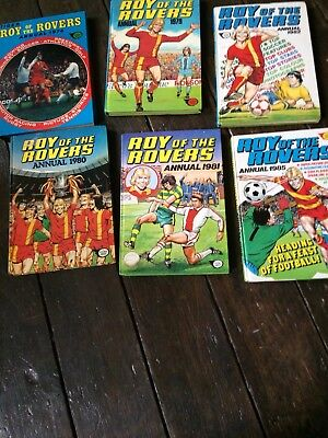 6 Roy Of the Rovers Football annuals Job Lot Collection Various Bargain